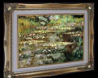 MONET WATER LILIES 1904 FRAMED CANVAS GICLEE ART REPRO