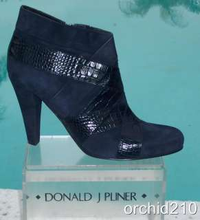 Donald Pliner ~$395 ~COUTURE~KOGI GATOR & SUEDE LEATHER~ Boot Shoe NIB
