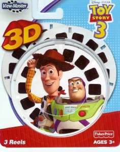 DISNEY PIXAR TOY STORY VIEW MASTER 3D 3 REELS WOODY NEW