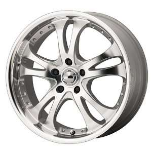American Racing Casino AR383 Silver Wheel with Machined Face And Lip