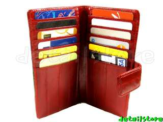 EEL SKIN BUSINESS CREDIT CARD CASE HOLDER WALLET BROWN