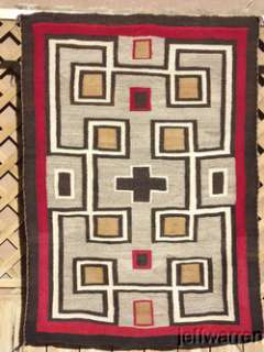 Classic Early Navajo Hubbell Trading Post Rug/Blanket Amazing