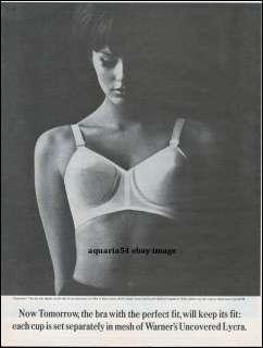 1962 Vintage Warners Tomorrow Mesh Dupont Lycra Bra Print Photo AD