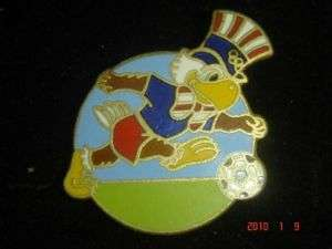 1984 LOS ANGELES OLYMPIC GAMES SAM THE EAGLE SOCCER PIN