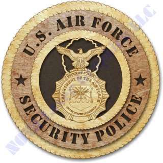 Air force Security Police Birch Wall Plaque
