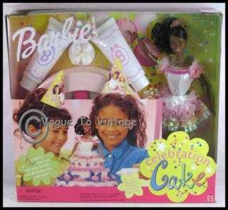 Birthday Celebration Cake African American Barbie NEW 074299229039