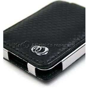 Brand Kroo   Luxury Black Leather Nano Case   for Apple