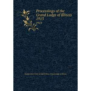 1913 Independent Order of Odd Fellows. Grand Lodge of Illinois Books
