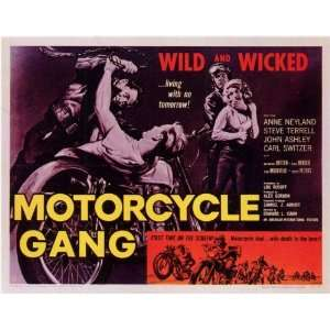 Motorcycle Gang   Movie Poster   11 x 17