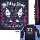 MOTLEY CRUE ROUTE OF ALL EVIL TOUR BLACK L/S SHIRT SMALL NEW