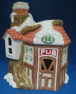 Holiday Christmas Village Ale Tree House Pub Tavern Bar Lighted Light
