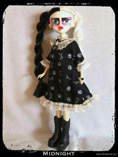 HANDMADE Custom Fashion GOWN +JEWELRY 4 BLEEDING EDGE GOTH DOLL Jack