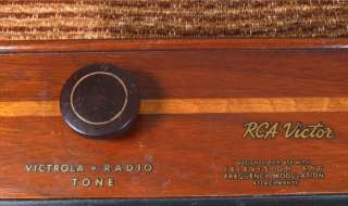 Vintage RCA Victor Wood TUBE RADIO Model 18T Short Wave/AM 1940