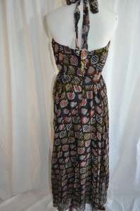 WINTER KATE Nicole Richie Victoire Maxi Circle Print Silk Maxi Dress