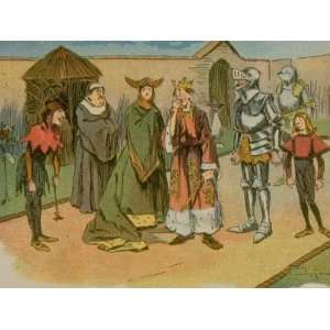 Cartoon Showing Court Jester to Palace Life, from Humors