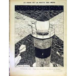 LE RIRE FRENCH HUMOR MAGAZINE LIGHTHOUSE SEA SHIPS