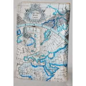 Blue Map Design  Kindle Fire Tablet Case with Built
