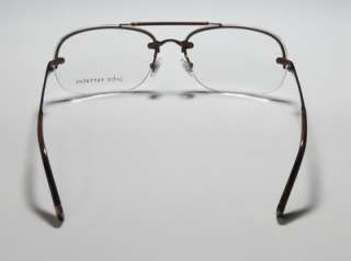 NEW JOHN VARVATOS V102 60 15 135 BROWN HALF RIM EYEGLASSES/GLASSES