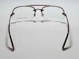 NEW JOHN VARVATOS V102 60 15 135 BROWN HALF RIM EYEGLASSES/GLASSES