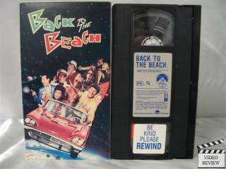 Back to the Beach VHS Frankie Avalon, Annette Funicello