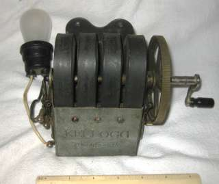 Antique Kellogg Magneto Hand Crank Telephone Electric Generator