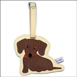 Dachshund (Red) Dog Luggage Tag / School Bag Tag Pet
