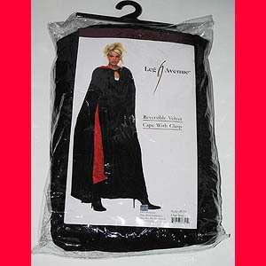 New Unisex Goth GOTHIC Vampire WITCH Costume Red BLACK Long Velvet