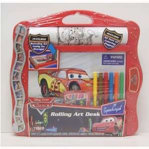 Disneys Cars Plastic Rolling Art Desk: Toys & Games