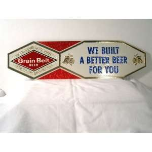 Embossed Grain Belt Beer Better Beer Sign