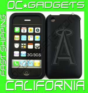 ANAHEIM ANGELS MLB BLACK COVER CASE IPHONE 3G 3GS