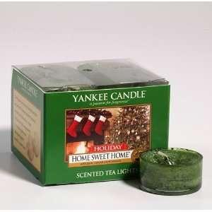 Holiday Home Sweet Home   Yankee Candle Box of 12 Tea Lights