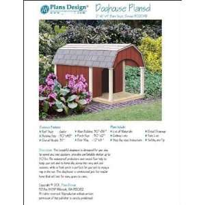 Porch, Barn Roof Style Project Plans, Pet Size up to 50 lbs Design