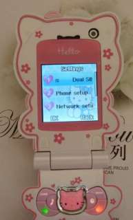 Unlocked Hello Kitty Cell phone C168 New quad band camera  Flip 1GB