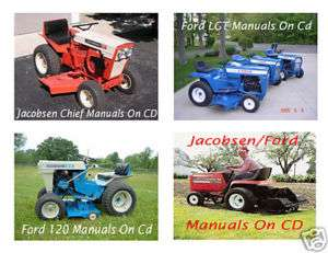 Jacobsen and Ford Garden Tractor and Implement Manuals