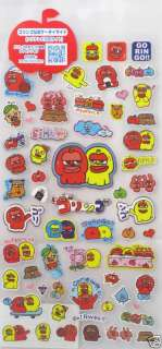 San X Goringo Apple Sticker Sheet (SE90402)~KAWAII