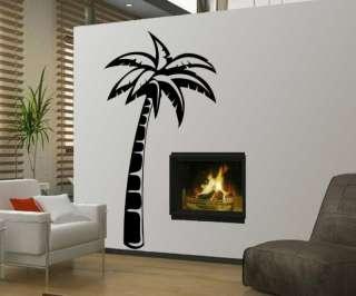 Big Palm Coconut Tropical Tree Wall Vinyl Decal Sticker