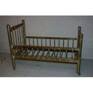 Vintage 1940s Solid All Brass Baby Doll Bed