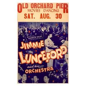 Jimmy Luncefords Big Band Orchestra Giclee Poster Print