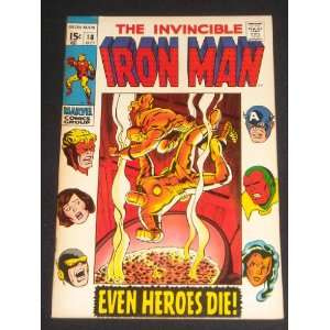 INVINCIBLE IRON MAN #18 SILVER AGE MARVEL COMIC BOOK
