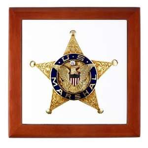 Marshal Badge Law Keepsake Box by CafePress: Baby