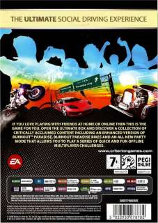 New PC Video Game BURNOUT PARADISE   THE ULTIMATE BOX