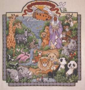 CROSS STITCH NOAHS ARK SAMPLER AND OTHER ARK DESIGNS BOOK