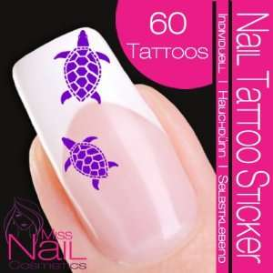 Nail Tattoo Sticker Turtle / Tortoise   purple: Beauty