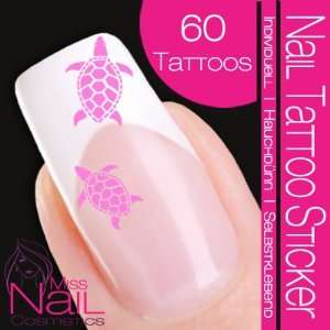 Nail Tattoo Sticker Turtle / Tortoise   rose: Beauty