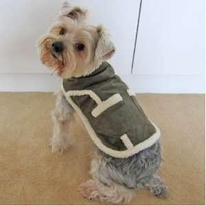 Happy Puppy Designer Dog Apparel   Shearling Pocket Coat