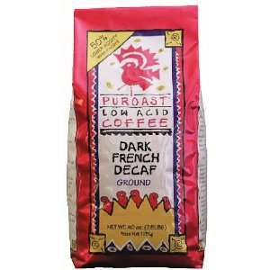 Low Acid French Roast Natural Decaf Grind Drip Grind, 2.5 Pound Bags
