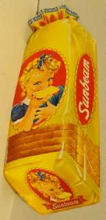 1940s Sunbeam Bread Little Miss Sunbeam Paper Window Sign