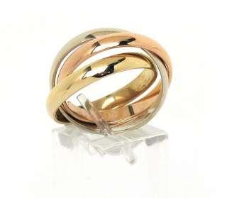 BENCHMARK DESIGNER STYLISH 14K TRICOLOR GOLD RING BANDS