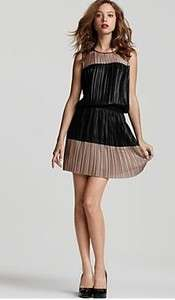 NWT BCBG MAXAZRIA ROMA COLOR BLOCKED COCKTAIL DRESS XS