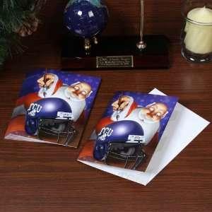 NCAA Texas Christian Horned Frogs (TCU) 12 Pack Single Santa Painting
